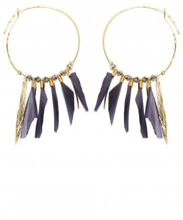 Marly Feather Hoop Earrings