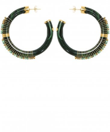 Caliste Beaded Hoop Earrings