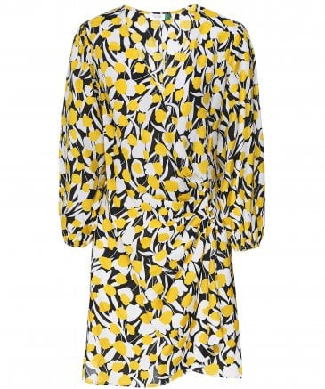 Sam Tulip Print Wrap Dress