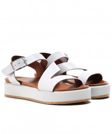 Leather Wedge Strap Sandals