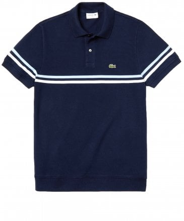 Knitted Pique Tricolour Striped Polo Shirt