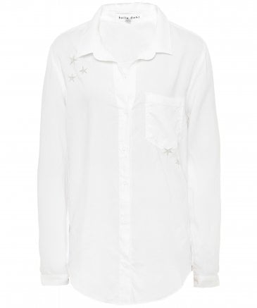 Star Embroidered Button Down Shirt