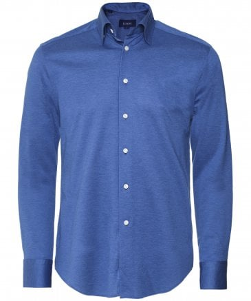 Slim Fit Knitted Pique Shirt