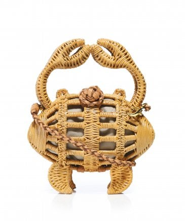 Aranaz Women's Baby Crab Wicker Clutch Bag