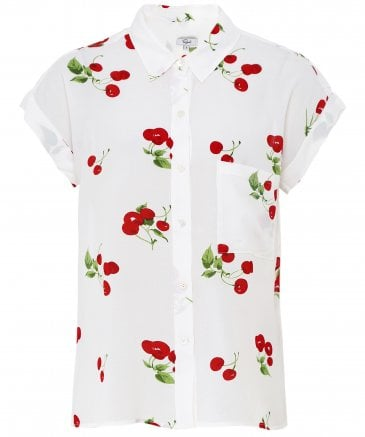 Rails Women's Whitney Cherry Bloom Print Shirt
