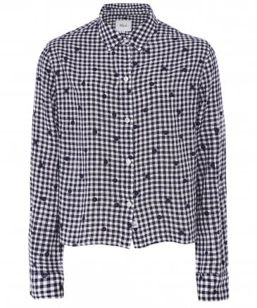 Rails Women's Linen Blend Audrey Gingham Shirt