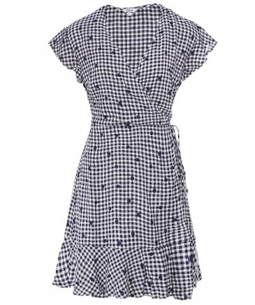 Rails Women's Leanne Gingham Wrap Dress