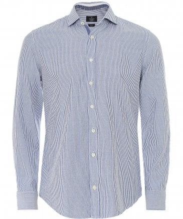 Slim Fit Brushed Flannel Striped Shirt