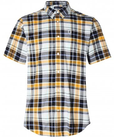 Black Madras Check Shirt M6532 C44