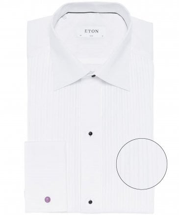 Slim Fit Plissé Dress Shirt