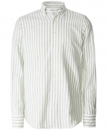 Fitted Body Textured Striped Shirt
