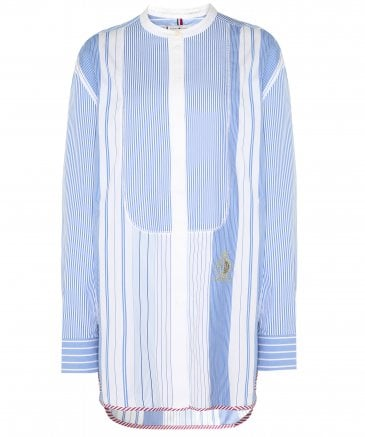 Tommy Hilfiger Women's Felicity Patchwork Stripe Oversized Fit Shirt