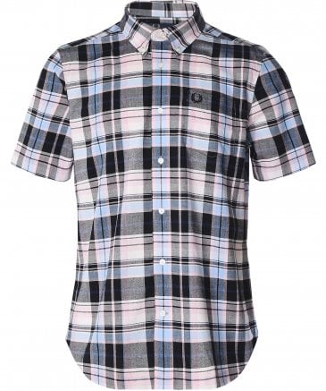 Black Madras Check Shirt M6532 D63