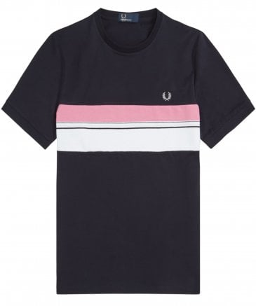 Striped Chest Panel T-Shirt M6518 608