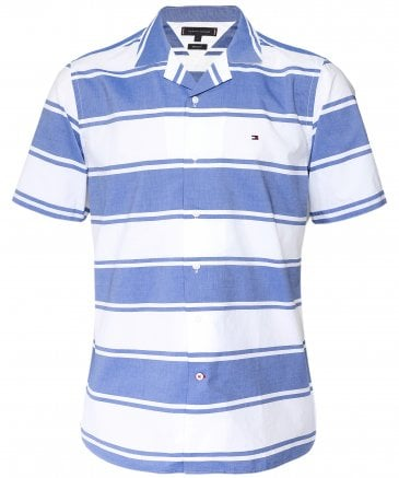 Regular Fit Short Sleeve Baja Stripe Shirt