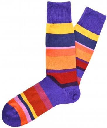 Paul Smith Men's Peter Odd Striped Socks