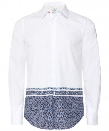 PS by Paul Smith Men's Tailored Fit Floral Print Shirt