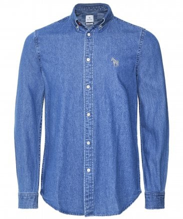 PS by Paul Smith Men's Tailored Fit Denim Shirt