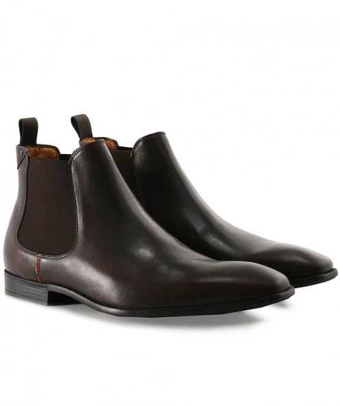 PS by Paul Smith Leather Falconer Chelsea Boots