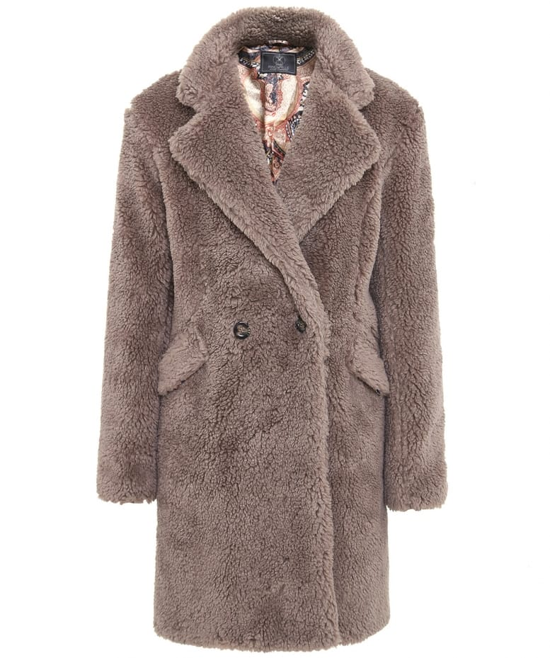 Rino and Pelle Light Brown Faux Fur Teddy Coat