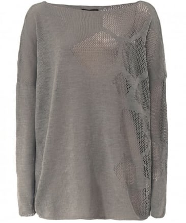 Long Linen Hexagonal Weave Jumper