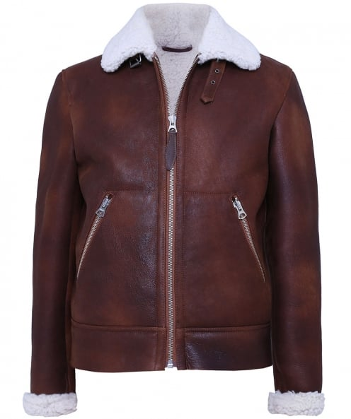 Schott Sheepskin Leather Bomber Jacket