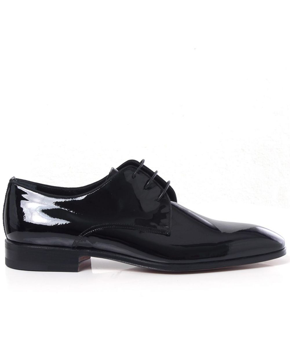 stemar black patent leather scala derby shoes available at