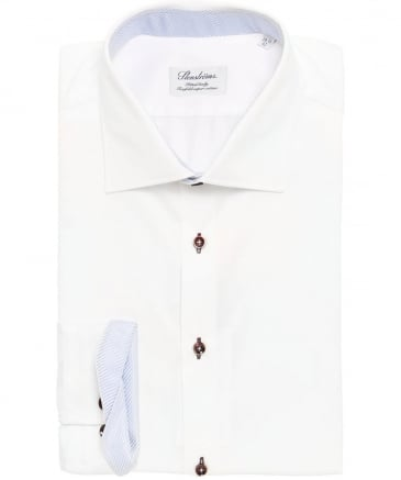 Fitted Woven Trim Shirt