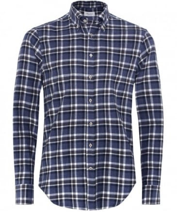 Fitted Check Flannel Shirt