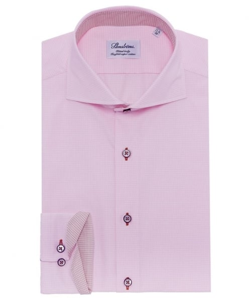 Fitted Micro Gingham Shirt