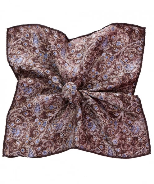Stenstroms Silk Square Print Handkerchief