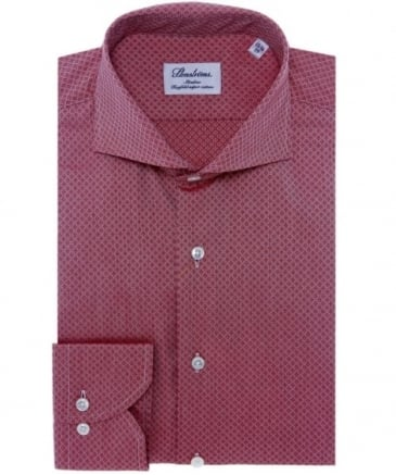 Slimline Printed Cotton Shirt