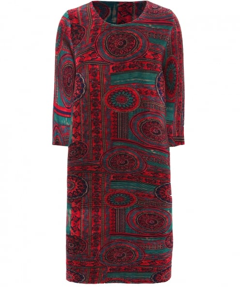 Thanny Abito Printed Pleat Dress