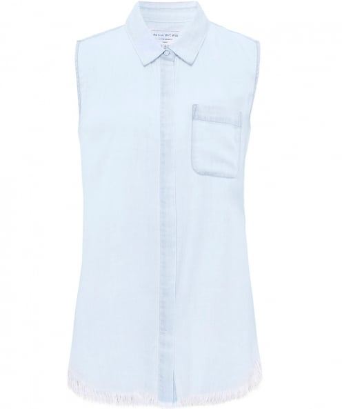 The Blue Shirt Shop N7th & Kent Sleeveless Denim Shirt