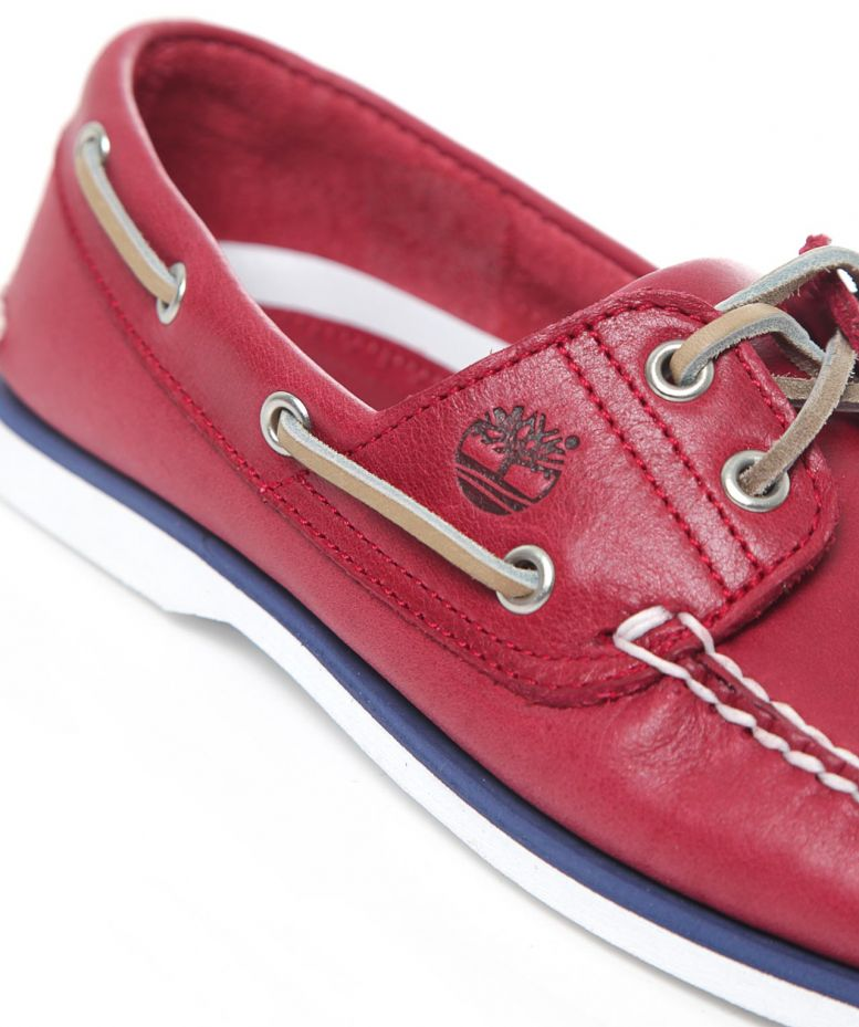Timberland Red Classic Boat Shoes available at Jules B