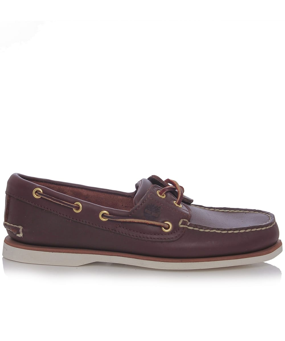 timberland brown classic leather boat shoes jules b