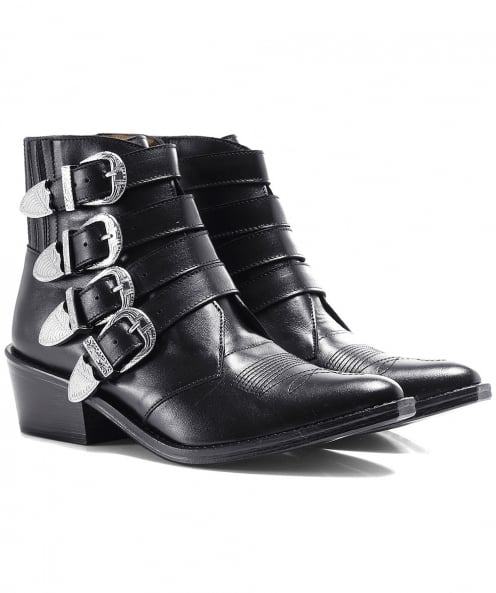 Toga Pulla Leather Multi Buckle Boots