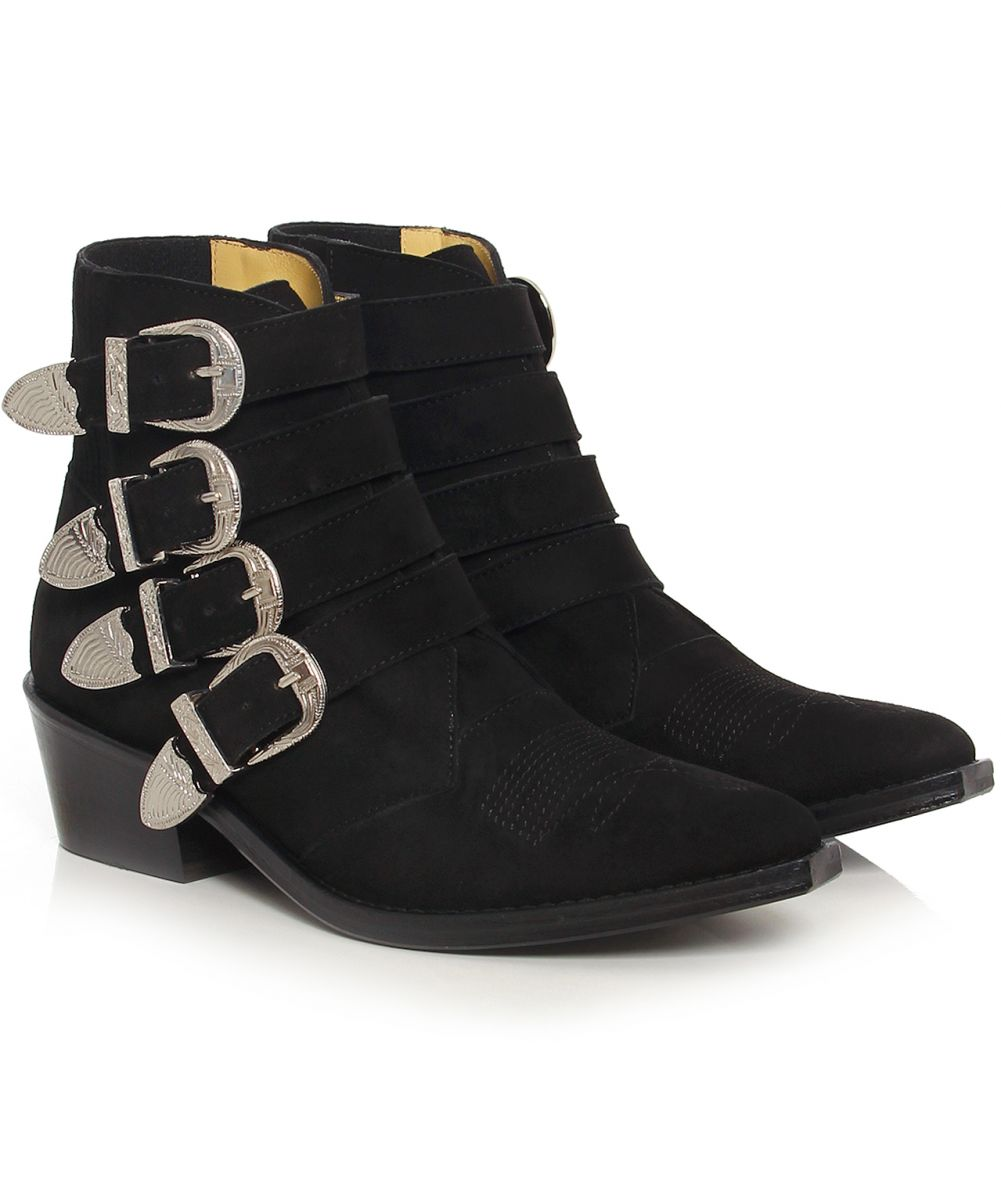 toga pulla suede buckle boots available at jules b