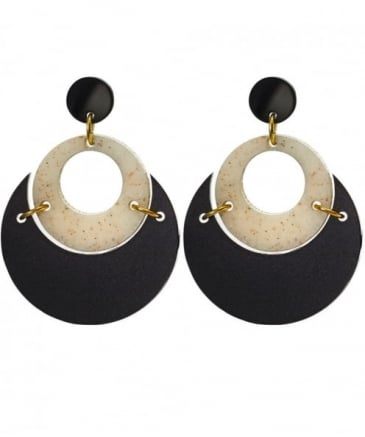 By Moonlight Circle Earrings