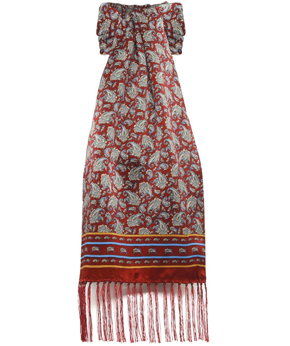 tootal burgundy mixed paisley scarf available at jules b