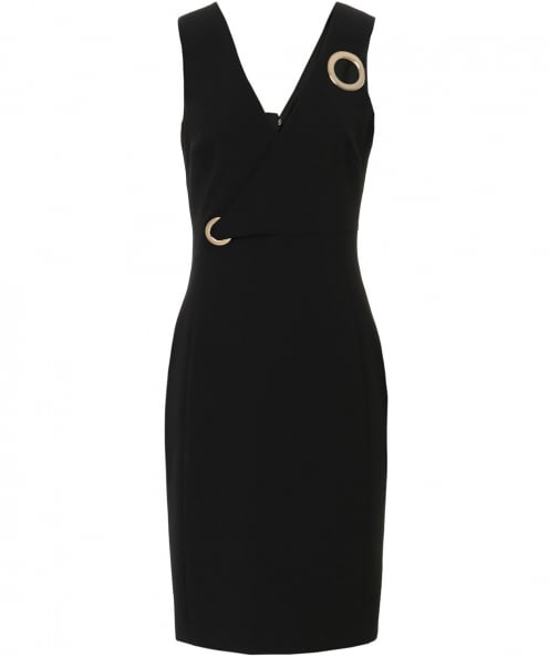 Versace Collection Eyelet Plunge Neck Dress