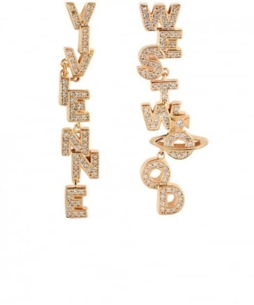 Soho Slogan Drop Earrings